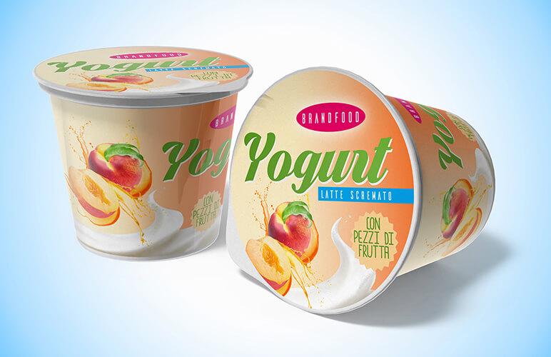 packaging yogurt