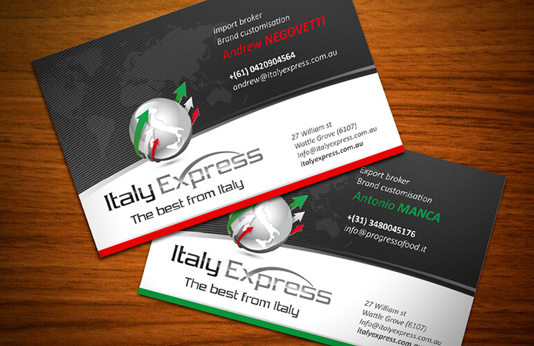 biglietto da visita Italy Express